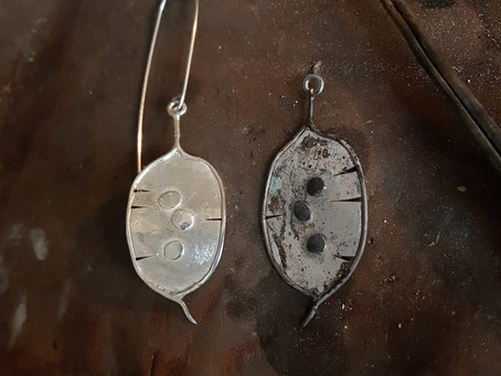 Honesty Pod - a new jewellery make for Autumn.