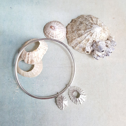 Silver Limpet Shell Nautical Bangle