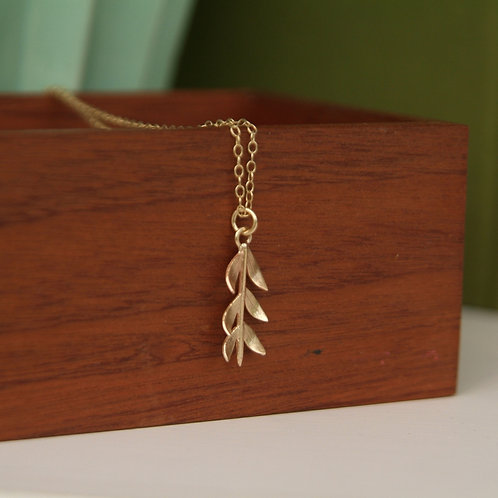 Gold branch necklace