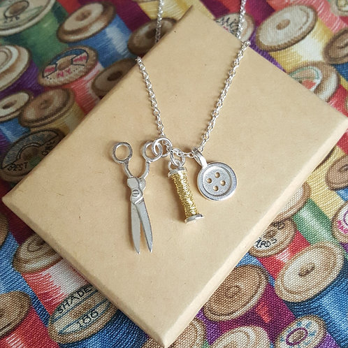 Sewing Charms Necklace