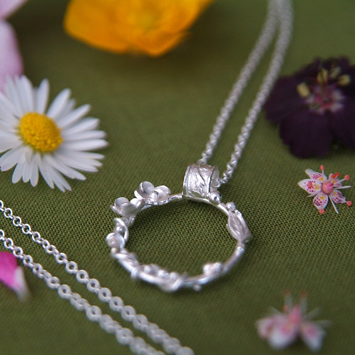 Posy Necklace - Wildflower Pendant
