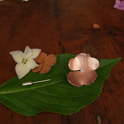 Copper Petals Brooch Pin