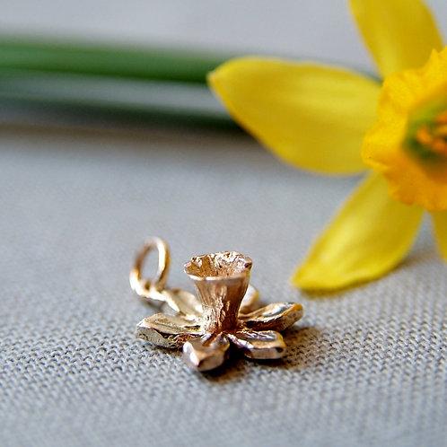 Gold Daffodil Flower Charm