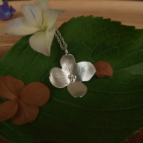 Hydrangea Petal Necklace - C