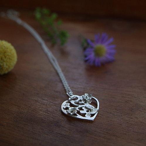 Botanical Heart Pendant