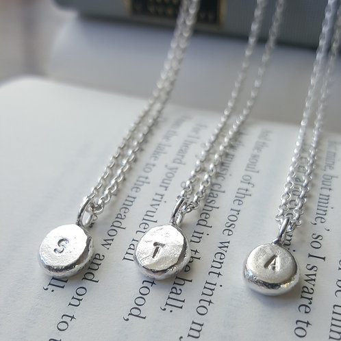 Initial Necklaces in Silver