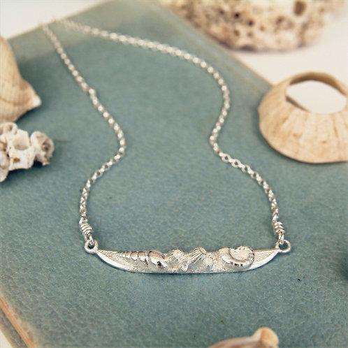 Silver Seashore Necklace
