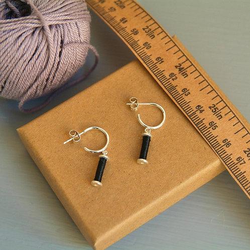 Silver Bobbin Earrings