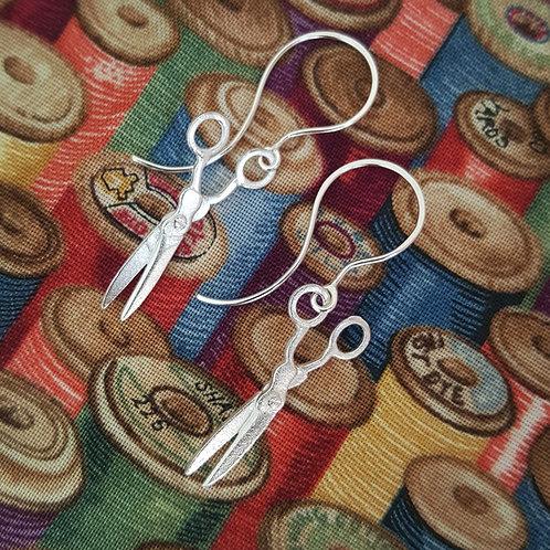 Silver Scissor Earrings