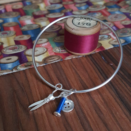 Sewing Charms Bangle