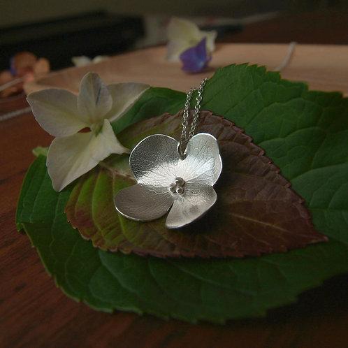 Hydrangea Petal Necklace - D