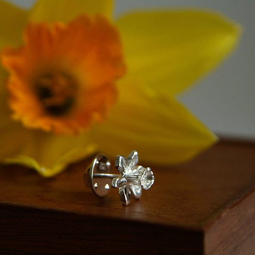 Daffodil Flower Tie Pin for Men