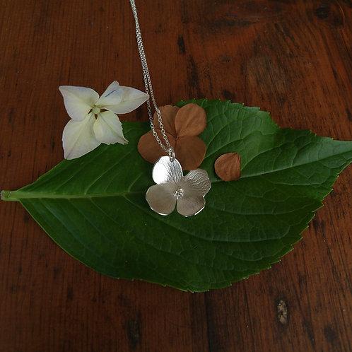 Silver Petals Necklace