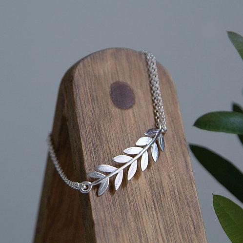Olive Branch Silver Bracelet