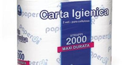 Carta Igienica 4 Maxi Rotoli - 2000 Strappi Paperd�