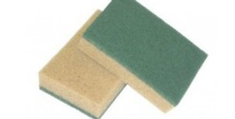 Spugna Tabacco Con Fibra abrasiva - Corazzi - 10 pz