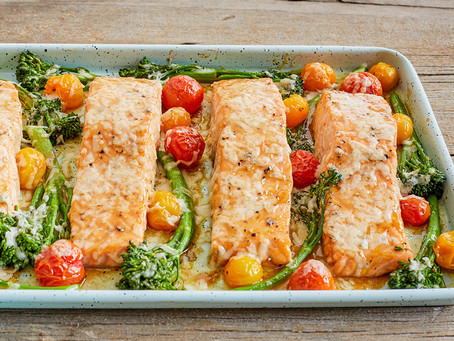 Maple-Glazed Salmon with Cheddar Drizzle