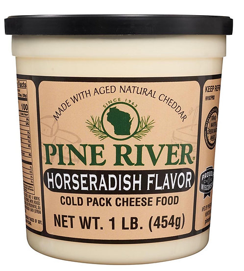 HORSERADISH FLAVOR COLD PACK CHEESE