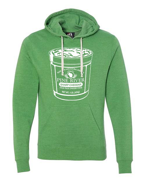 Pine River Sharp Cheddar Cup Green Hoodie