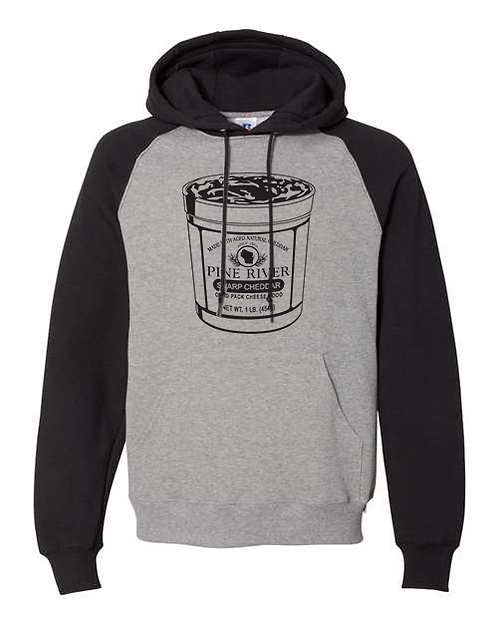 Pine River Sharp Cheddar Cup Grey Hoodie