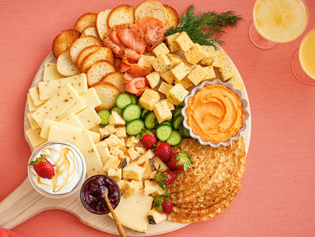 Sweet and Savory Brunch Cheese Board