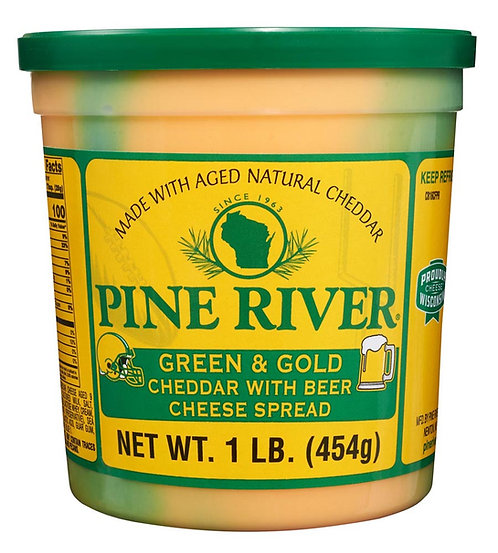 GREEN & GOLD CHEDDAR WITH BEER COLD PACK CHEESE