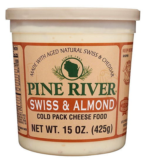 SWISS & ALMOND COLD PACK CHEESE