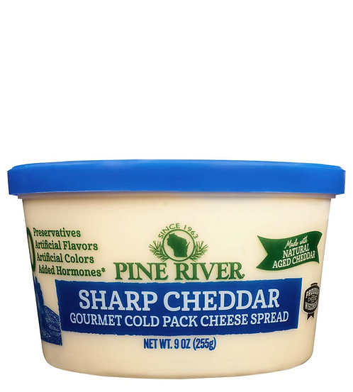 SHARP CHEDDAR COLD PACK CHEESE - No Preservatives