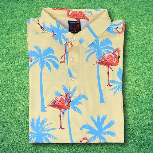 Sunny Flamingo Everyday Polo