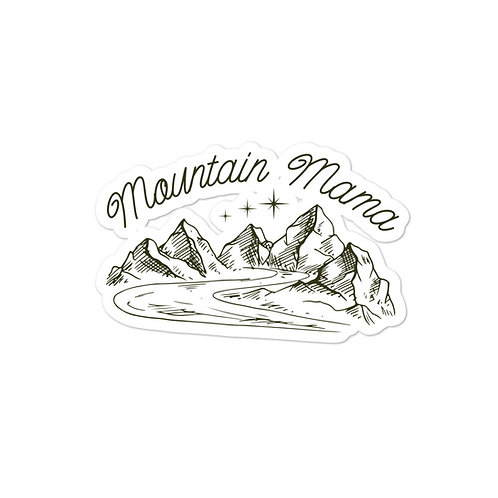 """""""Mountain Mama"""" Vinyl Sticker"""