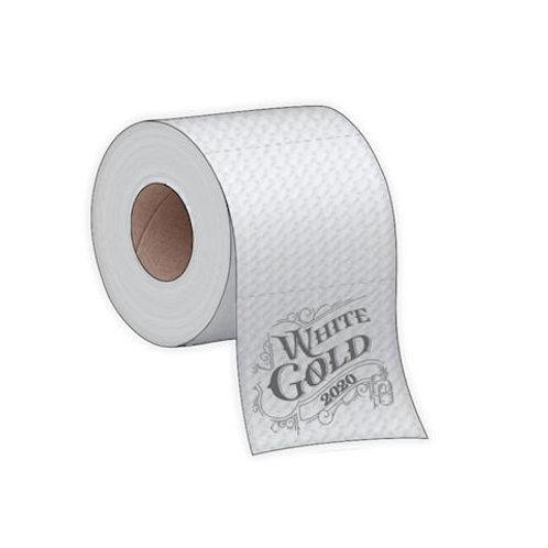 White Gold Toilet Paper Magnet #M007