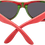 Thumbnail: Recycled Skatedeck Bluntslide Red Sunglasses by WUDN
