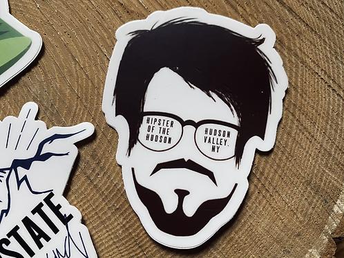 """""""Hipster of The Hudson"""" Vinyl Sticker"""
