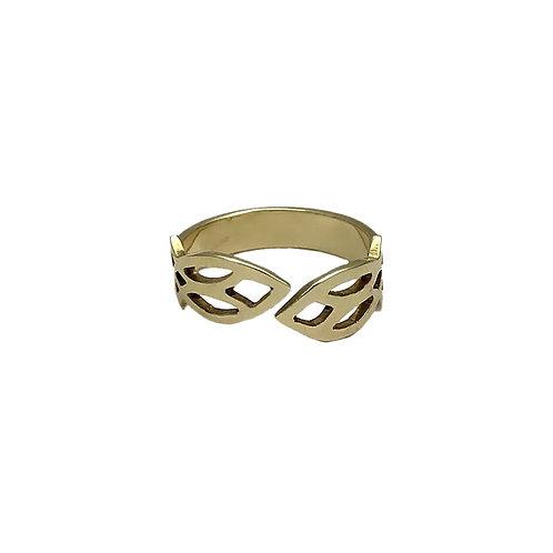 Cambodian Leaf Ring