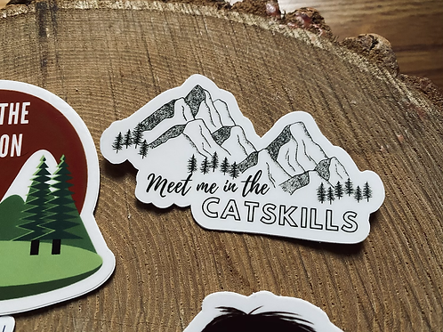 """Meet Me In The Catskills"" Vinyl Sticker"