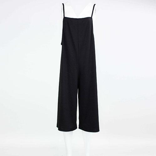 Cropped Bottom Wide Leg Jumpsuit