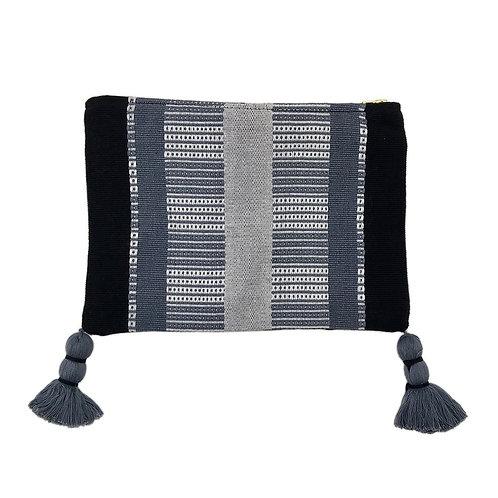 Black Striped Backstrap Clutch