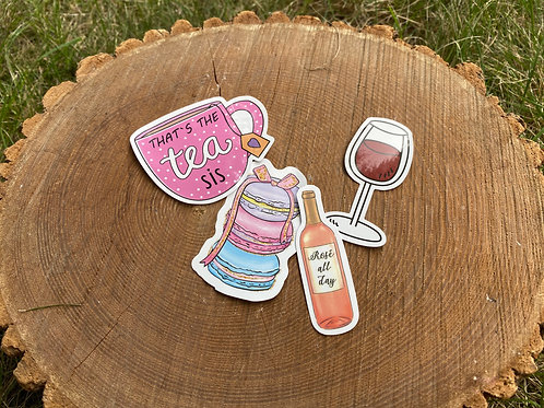 Brunch Babe Vinyl Sticker Pack (Set of 4)