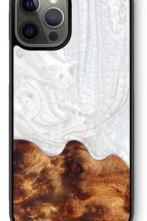 Slim Resin & Wood Phone Case - Arctic White
