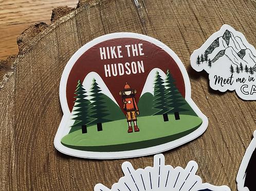 """Hike The Hudson"" Vinyl Sticker"