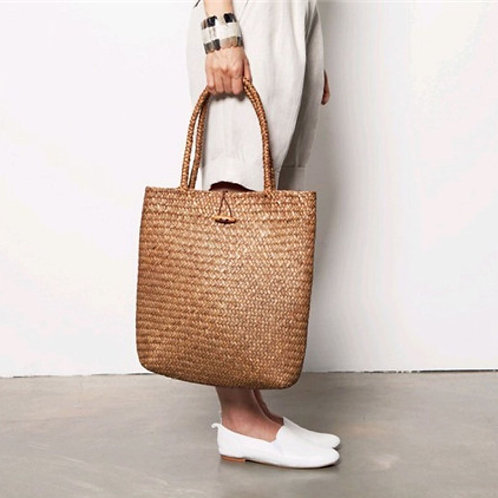 Straw Shopping Tote