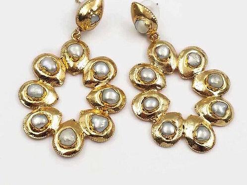 Baroque Pearl Perfection 14k Earrings