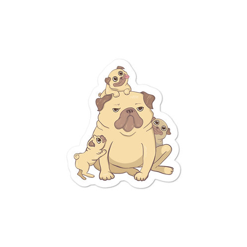 'Mother of Pugs' Vinyl Sticker