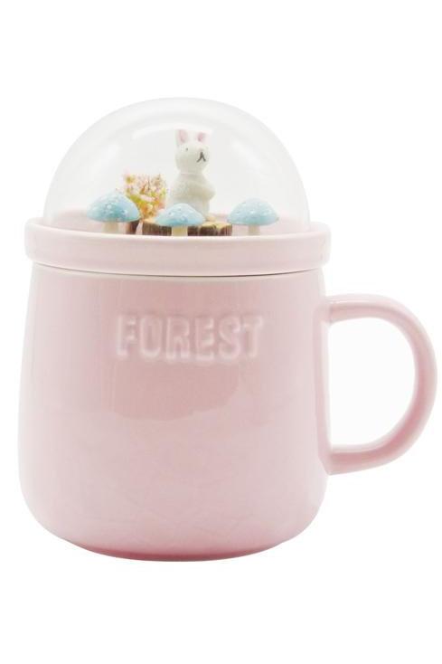 Forest Ceramic Mug - Pink