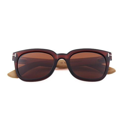 Real Bamboo Wanderer Sunglasses in Black or Brown by WUDN