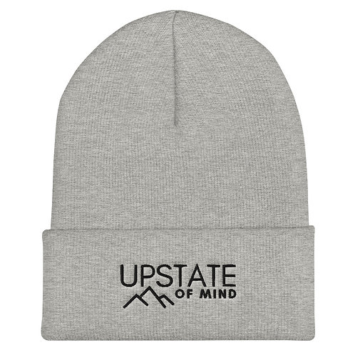 """Upstate of Mind"" Cuffed Beanie - Grey"