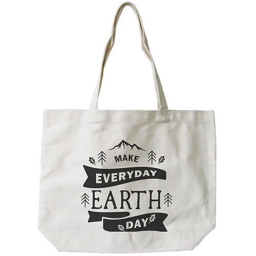 """Make Everyday Earth Day"" Reusable Canvas Tote"