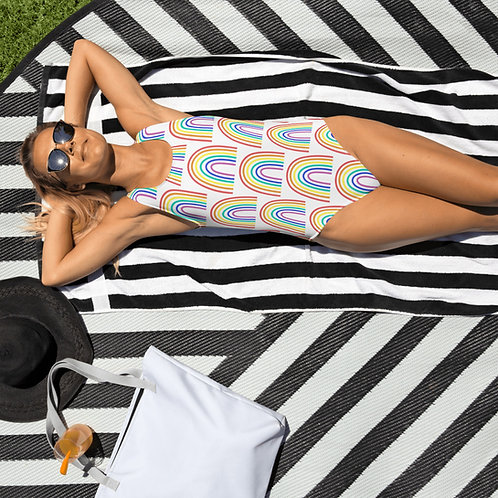Rainbow All-Over Print One-Piece Swimsuit