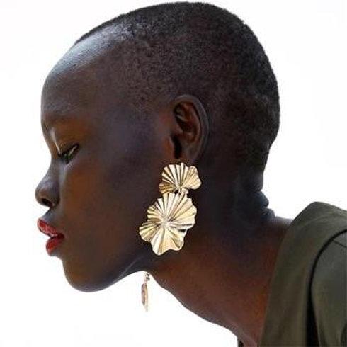 Golden Blossoms Drop Earrings