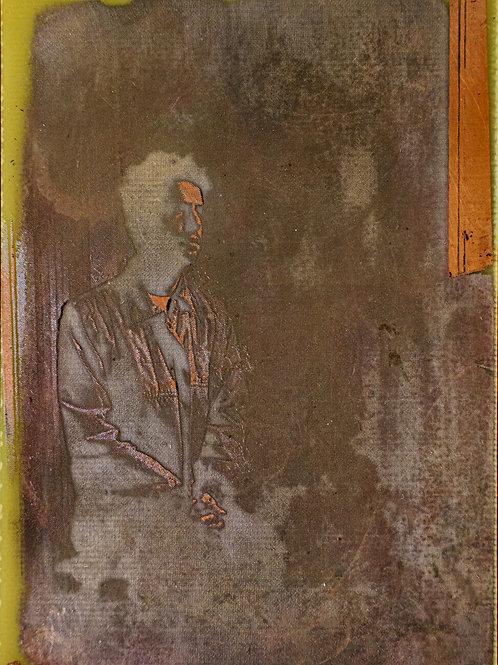 man and window. Portrait commission. 10/15 cm
